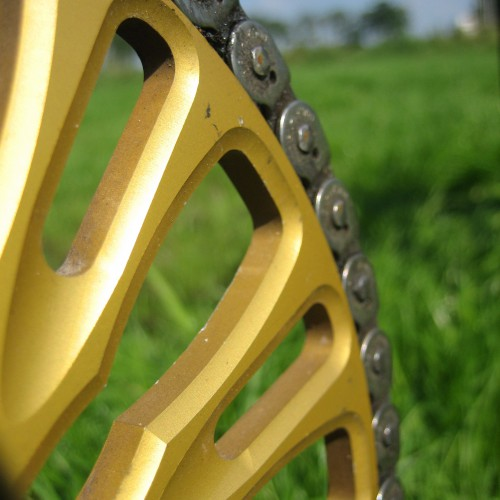 Gold Anodized Sprocket